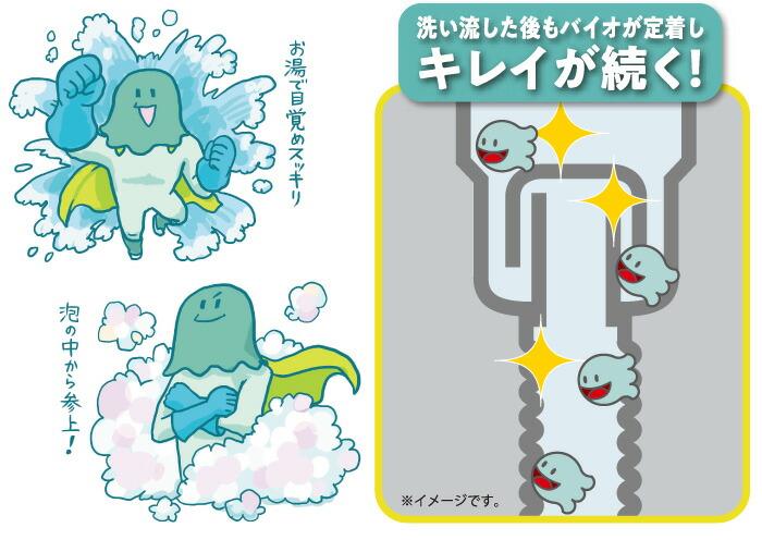 パワーバイオ泡のキッチン排水口きれい:キレイが続く