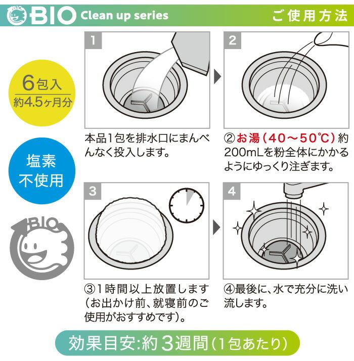 パワーバイオ泡のキッチン排水口きれい:ご使用方法
