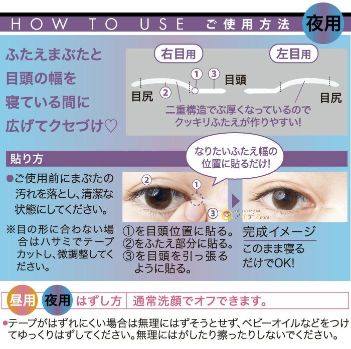 サギテープ昼用・夜用:ご使用方法