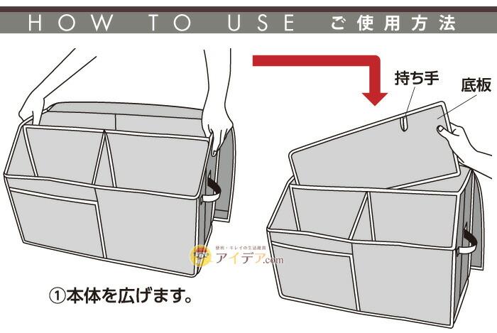 活性炭入り紙袋収納ボックス:ご使用方法