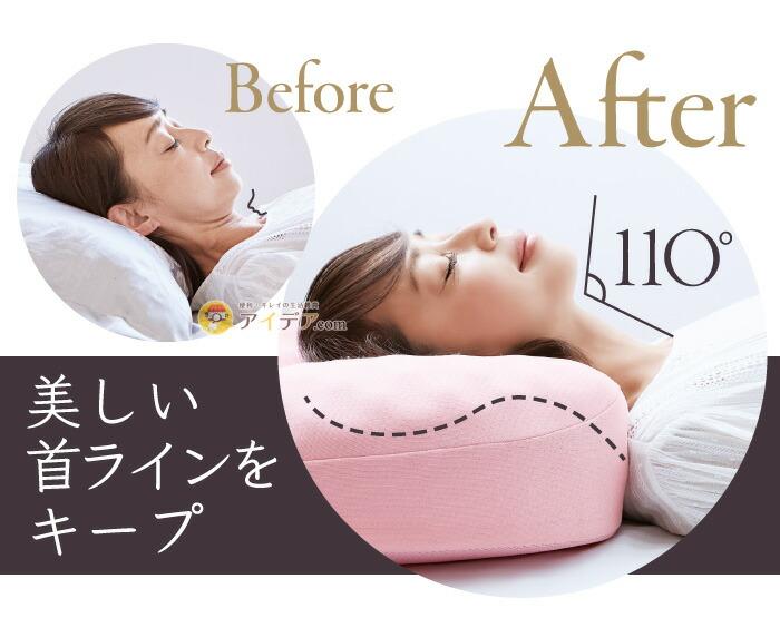 リンクルケア美容枕110:美しい首ラインをキープ