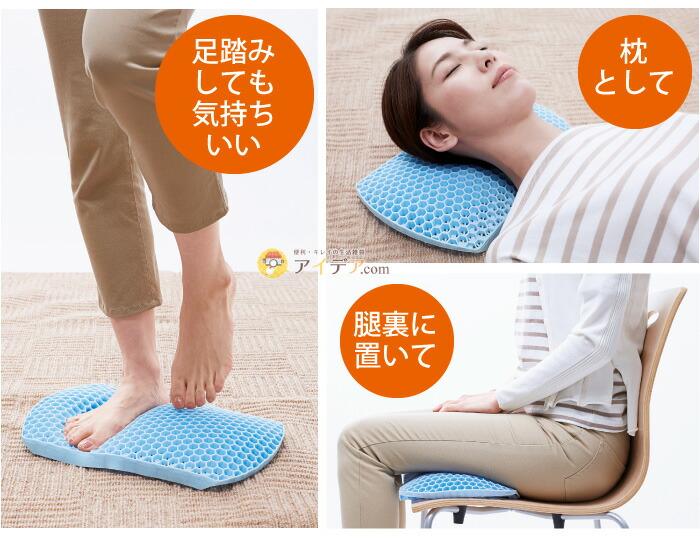 GELのびのび腰痛対策クッションハネナイトブラウン:使いみち