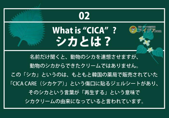 CICA METHOD CREAM:シカとは