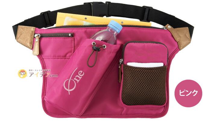 【母の日限定】名入れスリム軽量ウォーキングバッグone刺繍入り:ピンク