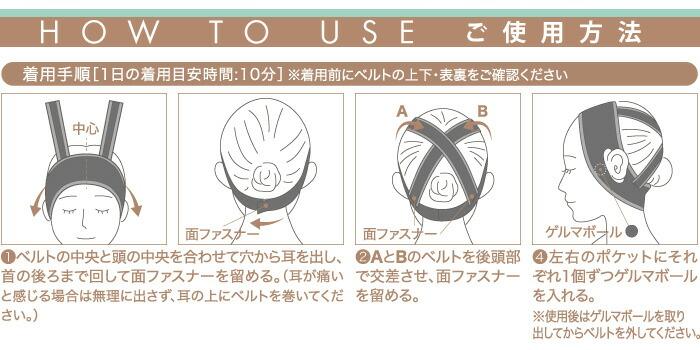 ゲルマボール小顔ベルト たるみリフト:ご使用方法