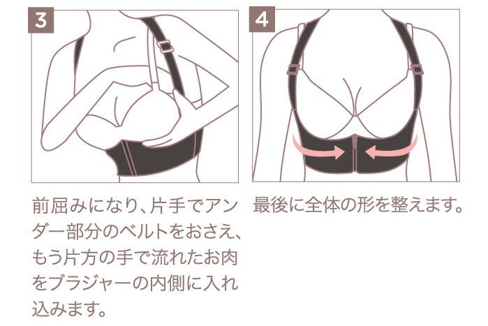 おっぱい美人メイクベルト:着用方法