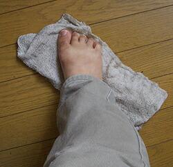 足雑巾がけ…汗
