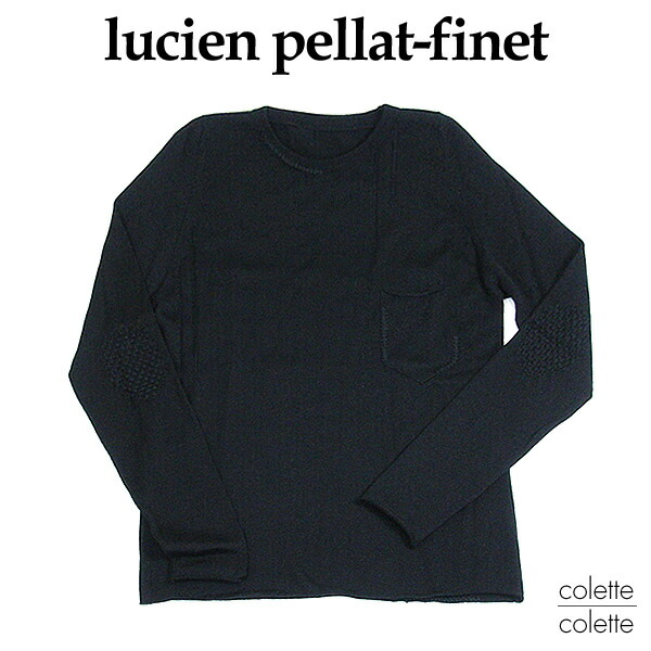 lucienpellat-fine(ルシアンペラフィネ)メンズ■カシミヤシルクデストロイドセーターブラックMサイズ