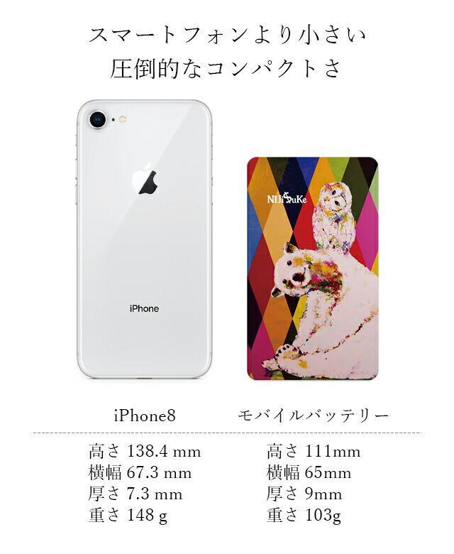 【楽天市場】モバイルバッテリー NIJISUKE 4000mAh