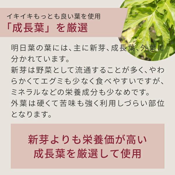 イキイキ成長場を使用するニチエー八丈島明日葉青汁