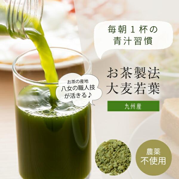 九州産お茶製法大麦若葉青汁