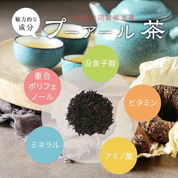 魅力的な成分プーアール茶