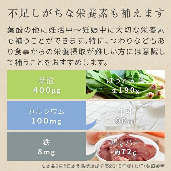 さんさん葉酸サプリメントは葉酸の他に不足しがちな栄養素も補えます