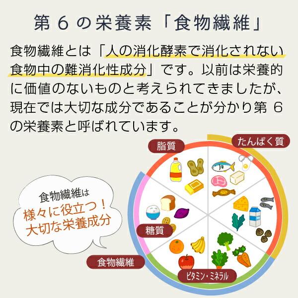 第6の栄養素「食物繊維」人の消化酵素で消化されない食物中の難消化性成分