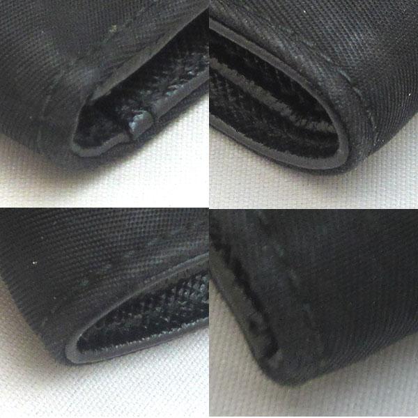d50476292166 ラダ『三角ロゴ二つ折り財布』が入荷しました?コンパクトサイズの二つ折り財布です。軽量なナイロン/レザー素材で人気のお品です☆ 外側ランクB ...