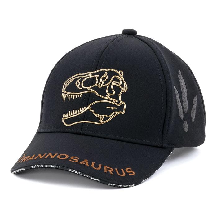 子供 スポーツキャップ ティラノサウルス スカル ブラック
