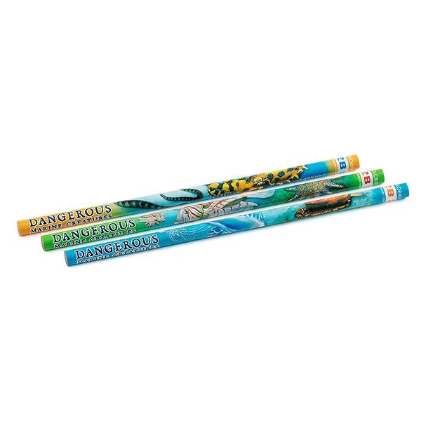 かきかた鉛筆3本セット 2B 海の危険生物