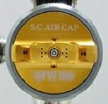 安定した微粒子を作り出すATOM S.C専用空気キャップ