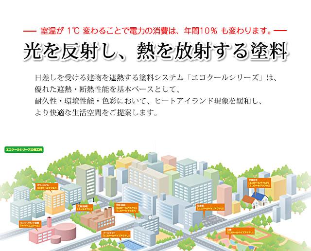 大日本塗料 遮熱塗料 エコクール