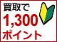 初めての買取成約で1,300ポイントプレゼント!(-4/1迄)