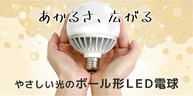 光が広がるボール電球