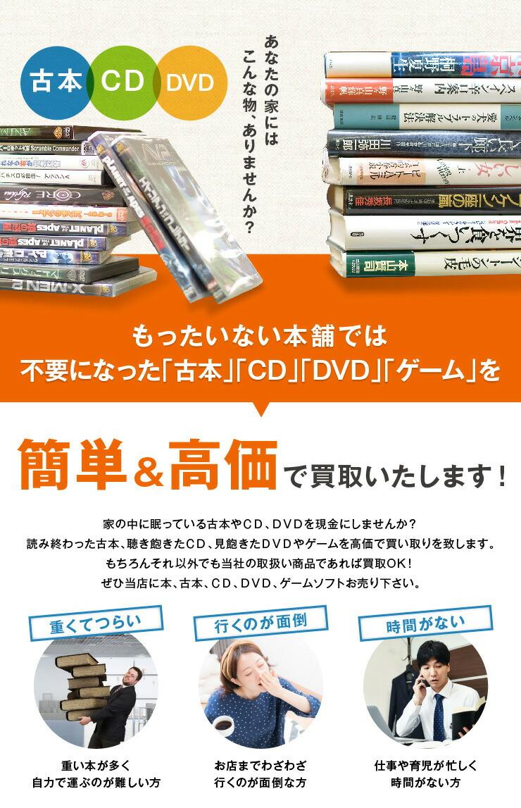 本、CD、DVD、ゲームソフトを簡単買取