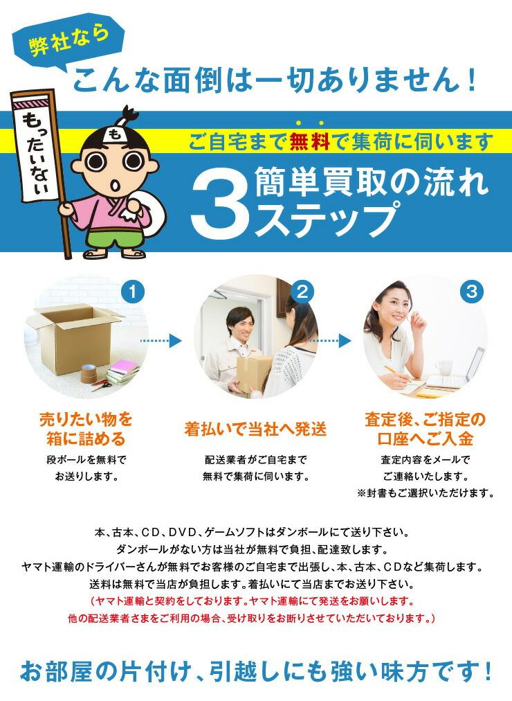 ご自宅まで無料で集荷・簡単3ステップ買取