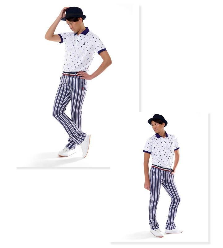 ゴルフ メンズ パンツ フレア クワッドポケット コモコーメ comocome お洒落 オシャレ おしゃれ ゴルフパンツ