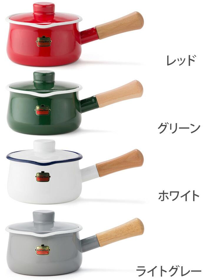 富士ホーロー,ホーロー鍋,琺瑯鍋,ミルクパン,フタ付き,片手鍋,15cm,ソリッド,限定色
