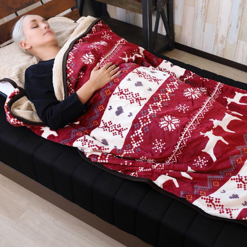 もこもこ寝袋毛布