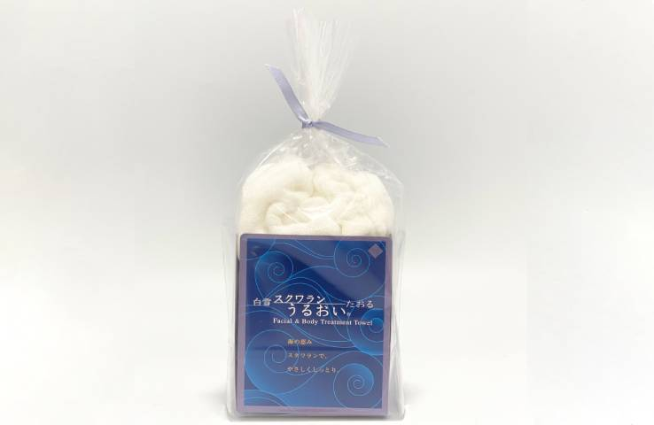 白雪スクワラン うるおいタオル レギュラー スキンケア 洗顔 タオル 美容 おしゃれ 丁寧な暮らし 蒸しタオル 蚊帳生地
