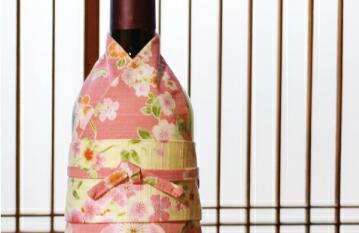 和の蔵 着物ボトルウェア お太鼓帯 桜 説明1
