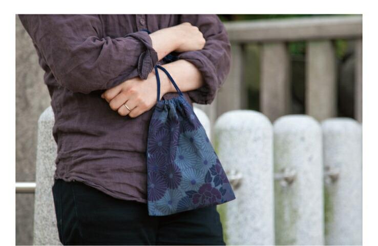 御朱印帳入れ 巾着袋 レトロフラワー ケース ポーチ 女性用 花柄 ギフト