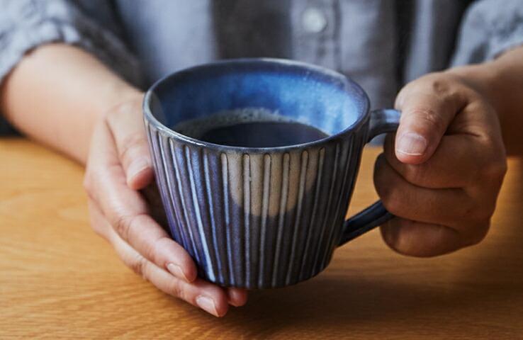 はんなり 萩の蒼月・マルチマグ 食器 カップ コーヒー 萩焼 贈り物 プチギフト 贈答