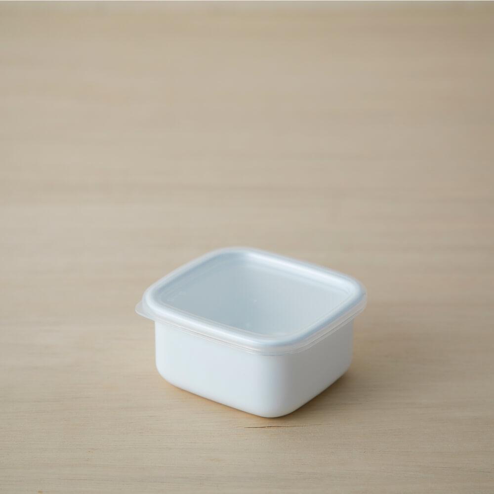 野田琺瑯 スクエアS シール蓋付 ホワイトシリーズ 保存容器  WS-S シンプル おしゃれ ほうろう ホーロー 白  キッチン