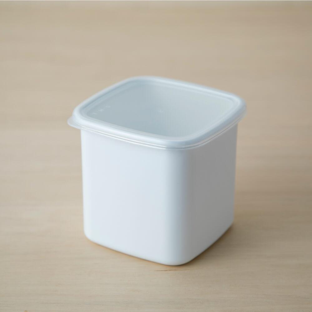 野田琺瑯 スクエアL シール蓋付 ホワイトシリーズ 保存容器  WS-L シンプル おしゃれ ほうろう ホーロー 白 キッチン