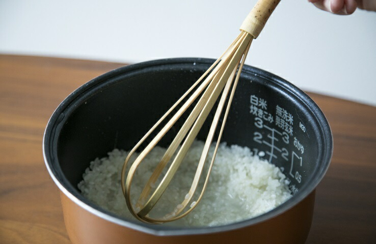 米とぎ 竹製 日本製 孟宗竹 天然 自然 キッチンツール ご飯 白米 サラダ 泡だて器 ホイッパー
