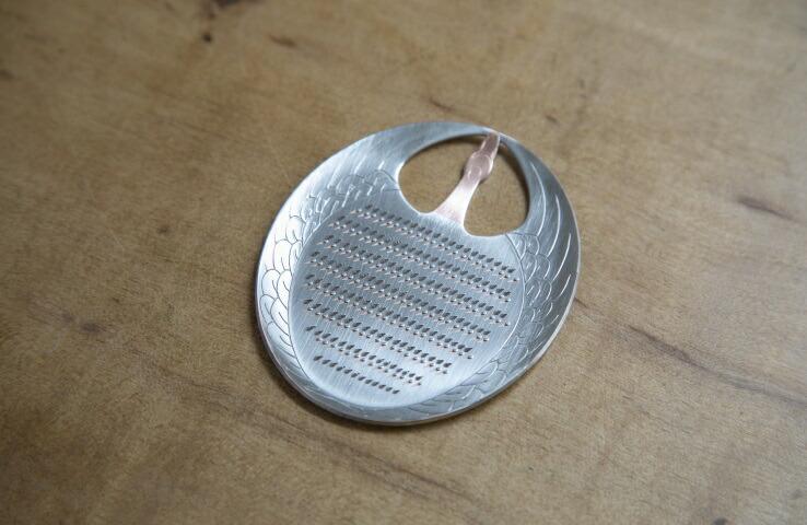 純銅製 卓上おろし金 ツル型 薬味用 薬味用 卓上 純銅 スズメッキ おろし金 料理 キッチン用品 手作り 日本製 鶴