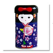 舞妓と手鞠の缶