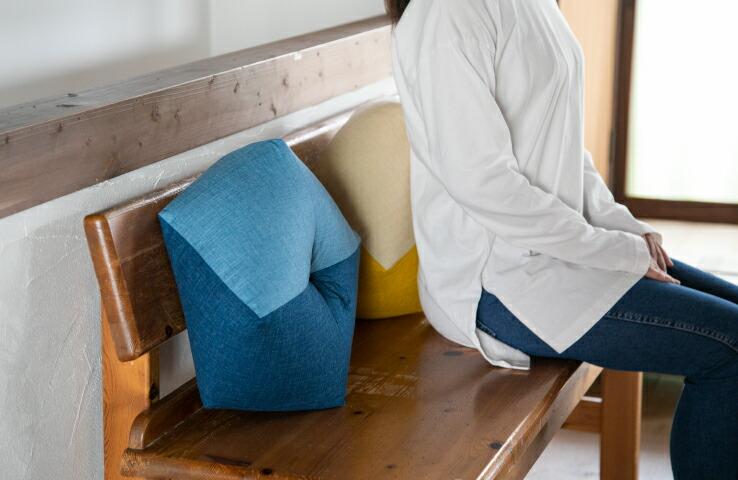 八角形のおじゃみ座布団 洛中高岡屋  直径約40cm 綿 日本製 腰痛 姿勢 骨盤 骨盤サポート 椅子 おしゃれ 北欧 和モダン かわいい 丸 椅子用 オフィス リモート テレワーク