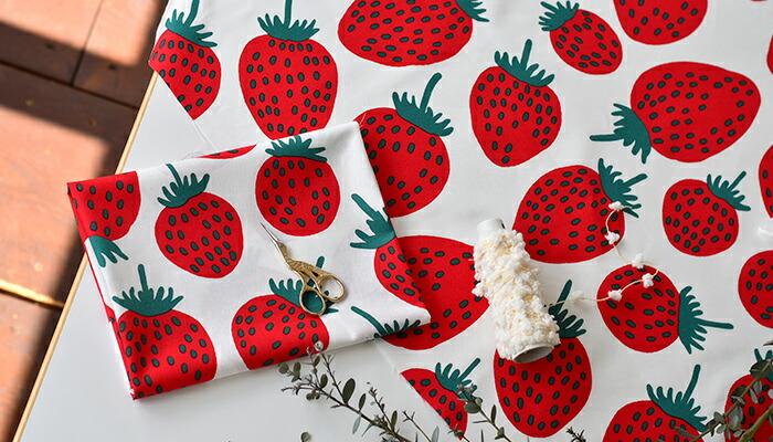 マリメッコのイチゴ柄、ピエニマンシッカ生地予約販売開始!