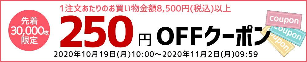 250円(8000円以上) 30000回