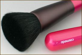 熊野筆メイクブラシ♪lt;BRgt;パウダーファンデーション用フェイスブラシ(ピンク) 【ショートP】匠の化粧筆コスメ堂