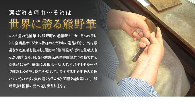 世界に誇る熊野筆