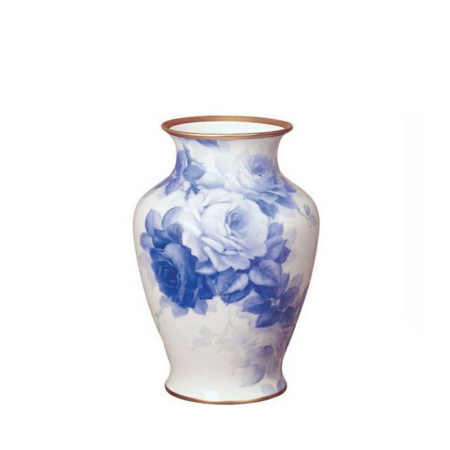 大倉陶園ブルーローズ45cm花器(24A-8011)