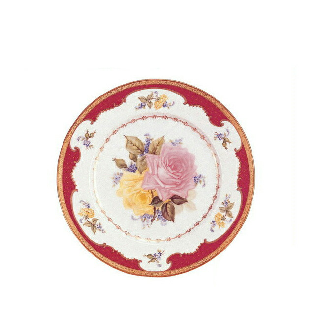 大倉陶園ばらマロン金彩飾り皿(67H-3496)