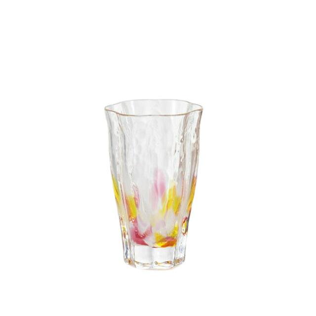 津軽びいどろ 花凛 山桜 枡酒杯 (F-71355)
