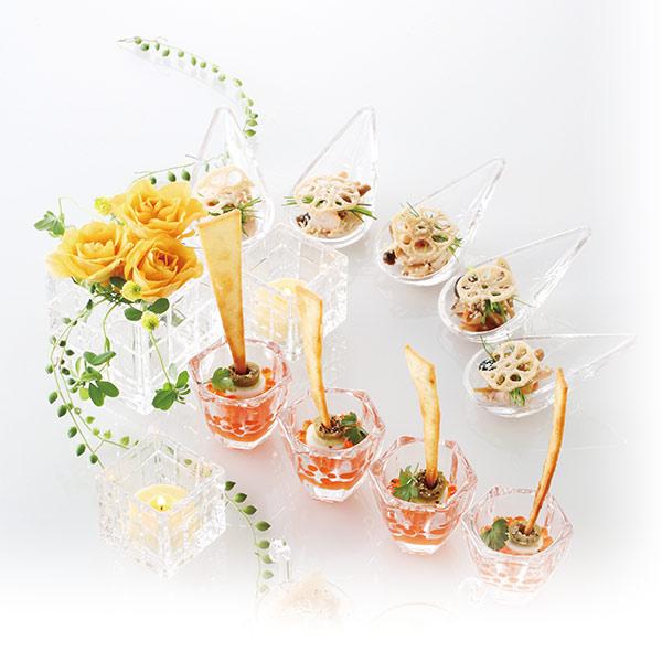 青山硝子 アミューズ タレ皿・薬味皿・小皿
