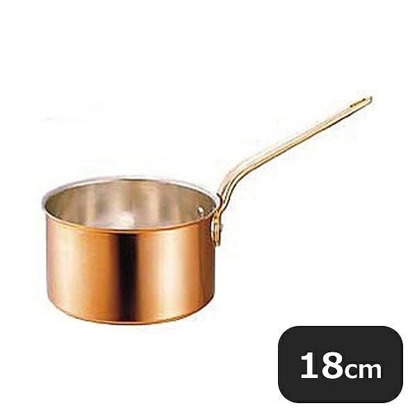 銅片手鍋 深型 蓋付 18cm (2.7L) (009057)