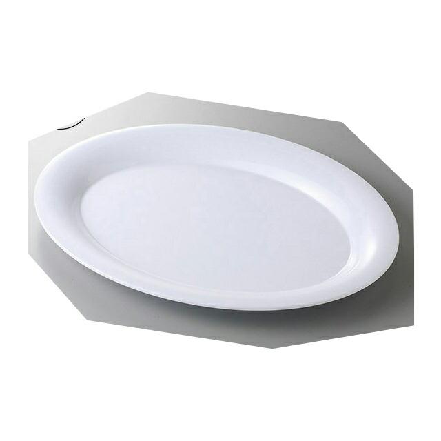 カーライル パレットデザイナー ワイドリムオーバルプラター 53.5cm (ホワイト) 4個セット (CR-3548)